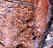Nevada Petroglyphs by Polly Peacock