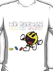 Mr Pac Man Run my party T-Shirt