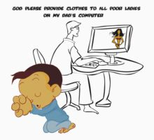 God Please Provide clothes to all poor ladies on dad's PC by Tridib Ghosh