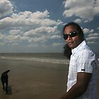 Man with dog by ArtDambuster