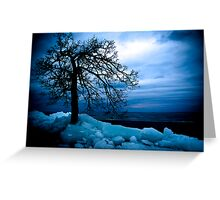 Retreating Ice Greeting Card