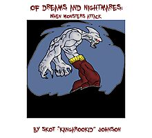 of dreams and nightmares: when monsters attack... Photographic Print