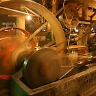 1800s Sawmill Steam Engine by Diane Nemea Laessig