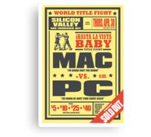 Mac vs. PC Canvas Print