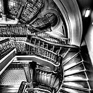 The Grand Staircase (Monochrome) - QVB - The HDR Experience by Philip Johnson