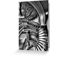 The Grand Staircase (Monochrome) - QVB - The HDR Experience Greeting Card