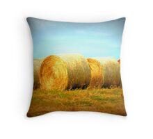 Golden Bales Throw Pillow