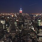 The Manhattan Skyline by Night by Graham Ettridge