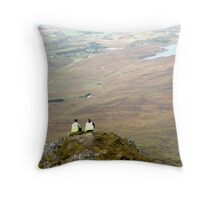 Mountain People Throw Pillow