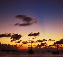 Sunset in St Maarten by Kate764331