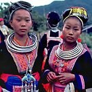 Hmong maidens by John Spies