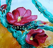 CATUS FLOWER painting by schiabor