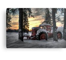 Skidder Sunrise Metal Print