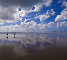 Two little boys reflected by Zoë Power