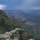 Summer Showers - Grand Canyon by Rob Pitzer by Rob Pitzer
