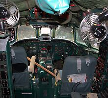 Cockpit of  Super Constellation by TeeMack