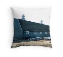 The Old Fashioned Grey Barn Throw Pillow
