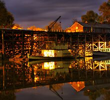 Echuca at night by John Vandeven
