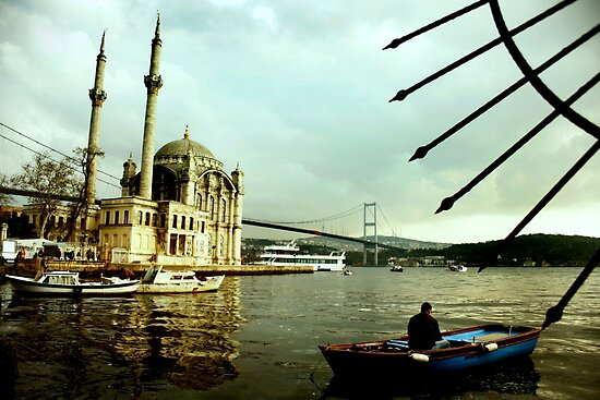 Ortakoy &amp; the Fisherman by Can Berkol