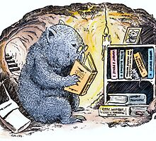 Mr Wombat Reads by SnakeArtist