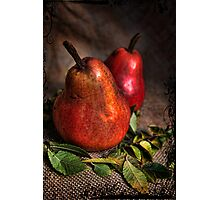 Red Pears Photographic Print