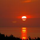 Sun Set over the Outer Banks, Cape Hatteras, North Carolina.. by Larry Llewellyn