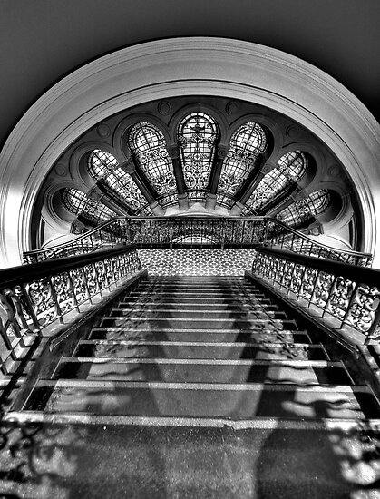 Black & White Symphony - QVB Building Sydney - The HDR Experience by Philip Johnson