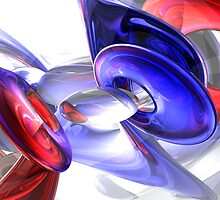 Red, White, and Blue Abstract by Alexander Butler