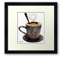 morning cup Framed Print