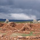 Pecos Ruins and Stormy Weather by cgrauke