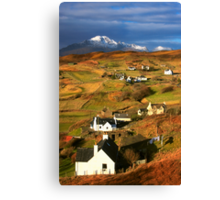 Tarskavaig Crofting Village, Isle of Skye, Scotland. Canvas Print