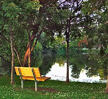 Bench on the Lake by AngelPhotozzz