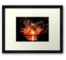Sunrise Mountain Framed Print