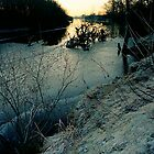 Winter by the river by Simon  McCue