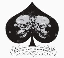 Ace of Spades Skull Tee by humanwurm