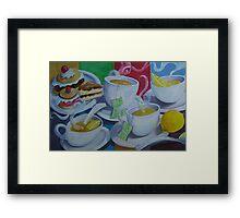 Tea Time Detail Framed Print