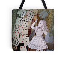 Alice In Wonderland/The Pack of Cards Tote Bag