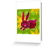 Knitty bunny Greeting Card