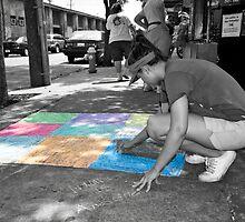 Sidewalk Art by Wendy Mogul