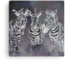 zebra painting print Metal Print