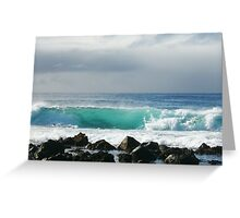 Surfs up. Greeting Card