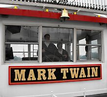 The Mark Twain River Boat by Jan  Tribe