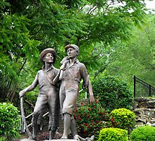Huck Finn and Tom Sawyer by Jan  Tribe