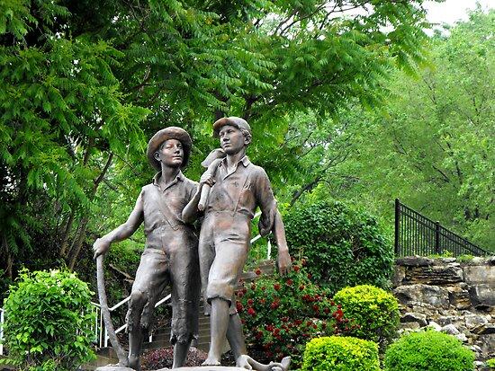 Huck Finn and Tom Sawyer by Jan  Tribe