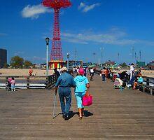 Coney Island strollers by Tom  Marriott