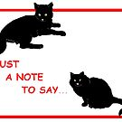 Black Cat Notes by redqueenself