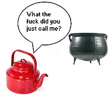 Pot calling the kettle black by kittenis