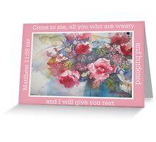 watercolor peonies Greeting Card