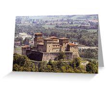 Italian Castles - Castle Of Torrechiara Greeting Card