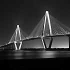 3104 - Ravenel Bridge (B&W) by Ray Mosteller
